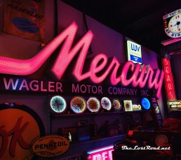 Neon signage and other automobilia at Spomer Classics